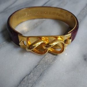 24KGoldPlated SnakeskinCuff Mannelli Florence